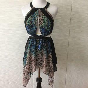 Bebe Dresses - Bebe Leopard Button up Skirt